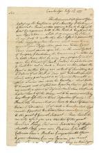 WASHINGTON, GEORGE. Contemporary copy of Washington's important letter to General John Thomas.