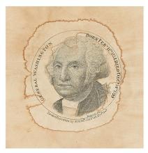 (WASHINGTON, GEORGE.) Roberts, engraver; after Stuart. General Washington, Born Feb'y 11th 1732, Died Dec'r 14th 1799.