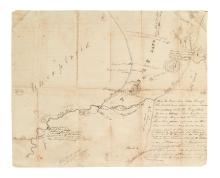 (WASHINGTON STATE.) [Strickler, William A.?] Pioneer map of the Green and White Rivers east of Tacoma.