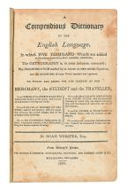 WEBSTER, NOAH. A Compendious Dictionary of the English Language.