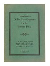 (WEST.) Brice, James. Reminiscences of Ten Years Experience on the Western Plains: