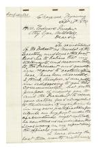(WYOMING.) Pair of substantial letters from Wyoming officials regarding the territory's tempestuous politics.