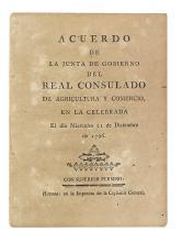 (CUBA.) Acuerdo de la Junta de Gobierno del Real Consulado de Agricultura y Comercio.