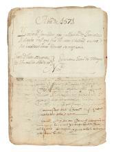 (MEXICO.) Extensive estate file of Puebla merchant Francisco Ruicabo.