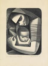 ELIZABETH CATLETT (1915 - 2012) Mother and Child.