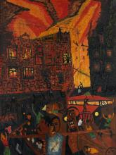 VINCENT D. SMITH (1929 - 2003) Untitled (Fire and Street Riot).