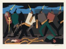 JACOB LAWRENCE (1917 - 2000) John Brown Held Harper's Ferry.