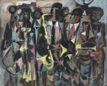 WILLIAM PAJAUD (1925 - 2015) Untitled (New Orleans Jazz Band).