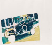 RICHARD YARDE (1939 - 2011) Untitled (Madam C. J. Walker and Friends in her Automobile).