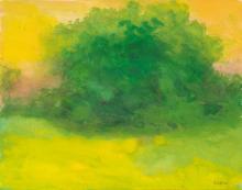 RICHARD MAYHEW (1924 -   ) Untitled (Landscape).