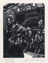 FRITZ EICHENBERG Subway (Sleep).