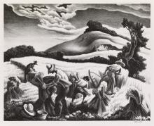 THOMAS HART BENTON Cradling Wheat.