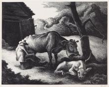THOMAS HART BENTON White Calf.
