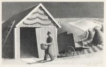 GRANT WOOD Seed Time and Harvest.