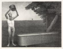 GRANT WOOD Sultry Night.