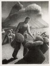 GRANT WOOD Approaching Storm.