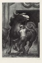 JOHN STEUART CURRY Prize Stallions.