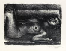 DAVID A. SIQUEIROS Two lithographs.
