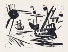 LYONEL FEININGER Schiffe und Sonne.