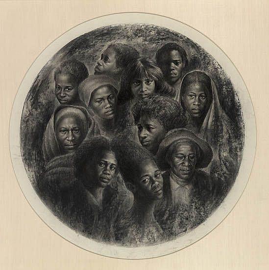 CHARLES WHITE (1918 - 1979) J'Accuse! No. 10 (Negro Woman).
