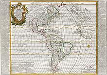 BAILLEUL, NICOLAS. L'Amerique Septentrionale et Meridionale.