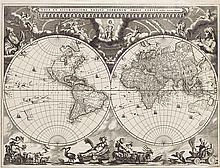 BLAEU, JOAN. Nova et Accuratissima Totius Terrarum Orbis Tabula.