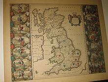 BLAEU, WILLEM and JAN. Britannia prout divisa fuit temporibus Anglo-Saxonum.
