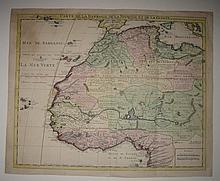 COVENS and MORTIER. Carte de la Barbarie de la Nigritie et de la Guinée.