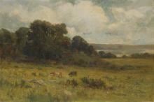 EDWARD M. BANNISTER (1828 - 1901) Untitled (Pastoral Landscape).