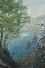 THOMAS WATSON HUNSTER (1851 - 1929) View of a Valley.