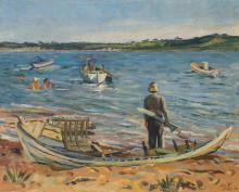 LOÏS MAILOU JONES (1905 - 1998) Lobsterville Beach.