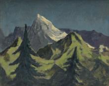 HUGHIE LEE-SMITH (1915 - 1999) Untitled (Winter Landscape).