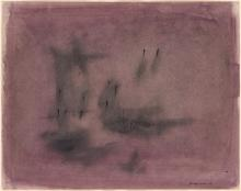 NORMAN LEWIS (1909 - 1979) Untitled (Abstract Composition in Purple).
