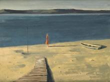 HUGHIE LEE-SMITH (1915 - 1999) Figure by the Seashore II.