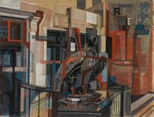 WALTER AUGUSTUS SIMON (1916 - 1979) Second Avenue, New York City.