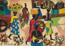 JACOB LAWRENCE (1917 - 2000) Memories of Nigeria.