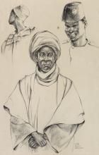 ELTON C. FAX (1909 - 1993) Muslim Men of Kano, Nigeria.
