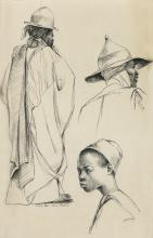 ELTON C. FAX (1909 - 1993) Fulani Herdsman and a Young Man of Kano.