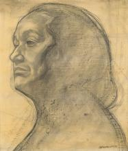 CHARLES WHITE (1918 - 1979) Head of a Woman.