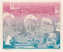 ROMARE BEARDEN (1911 - 1988) Memories (The Train).