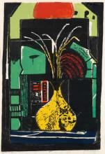 JAMES LESESNE WELLS (1902 - 1992) Yellow Vase.
