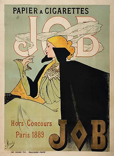 Poster: JANE ATCHÉ (1872-1937) JOB. 1889. 57 x 42 inches. Cas