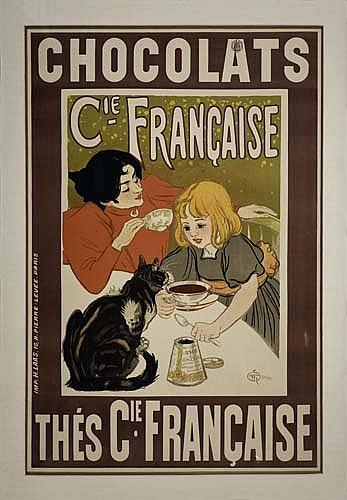 Poster: THÉOPHILE-ALEXANDRE STEINLEN (1859-1923) CHOCOLATS /