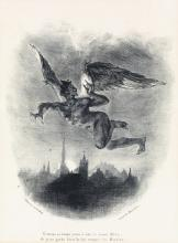 EUGÈNE DELACROIX Two lithographs from Faust.