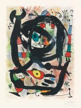 JOAN MIRÓ Lithograph for the County Museum of Art, Los Angeles.