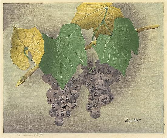 LUIGI RIST Two Bunches of Grapes.