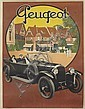 ROGER BRODERS (1883-1953). PEUGEOT. 1923. 62x46 inches, 159x119 cm. Affiches Broders, Epinay.