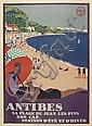 ROGER BRODERS (1883-1953). ANTIBES. Circa 1928. 42x30 inches, 106x78 cm. Lucien Serre, Paris.