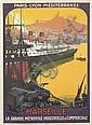 ROGER BRODERS (1883-1953). MARSEILLE / LA GRANDE METROPOLE INDUSTRIELLE ET COMMERCIALE. Circa 1922. 42x30 inches, 106x76 cm. Cornille &