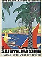 ROGER BRODERS (1883-1953). SAINTE - MAXIME. 1928. 42x31 inches, 108x79 cm. Lucien Serre, Paris.